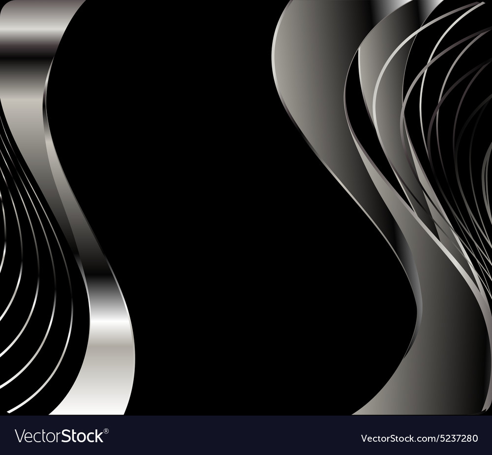 Wave Abstract Background Black And White Color Vector Image