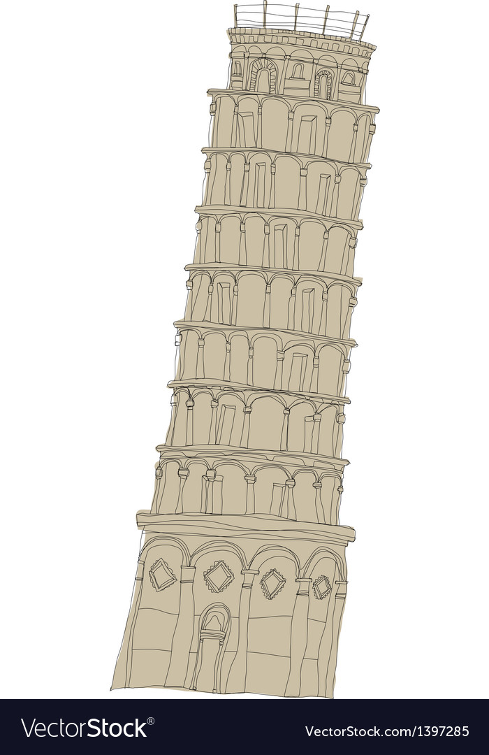 A leaning tower of pisa