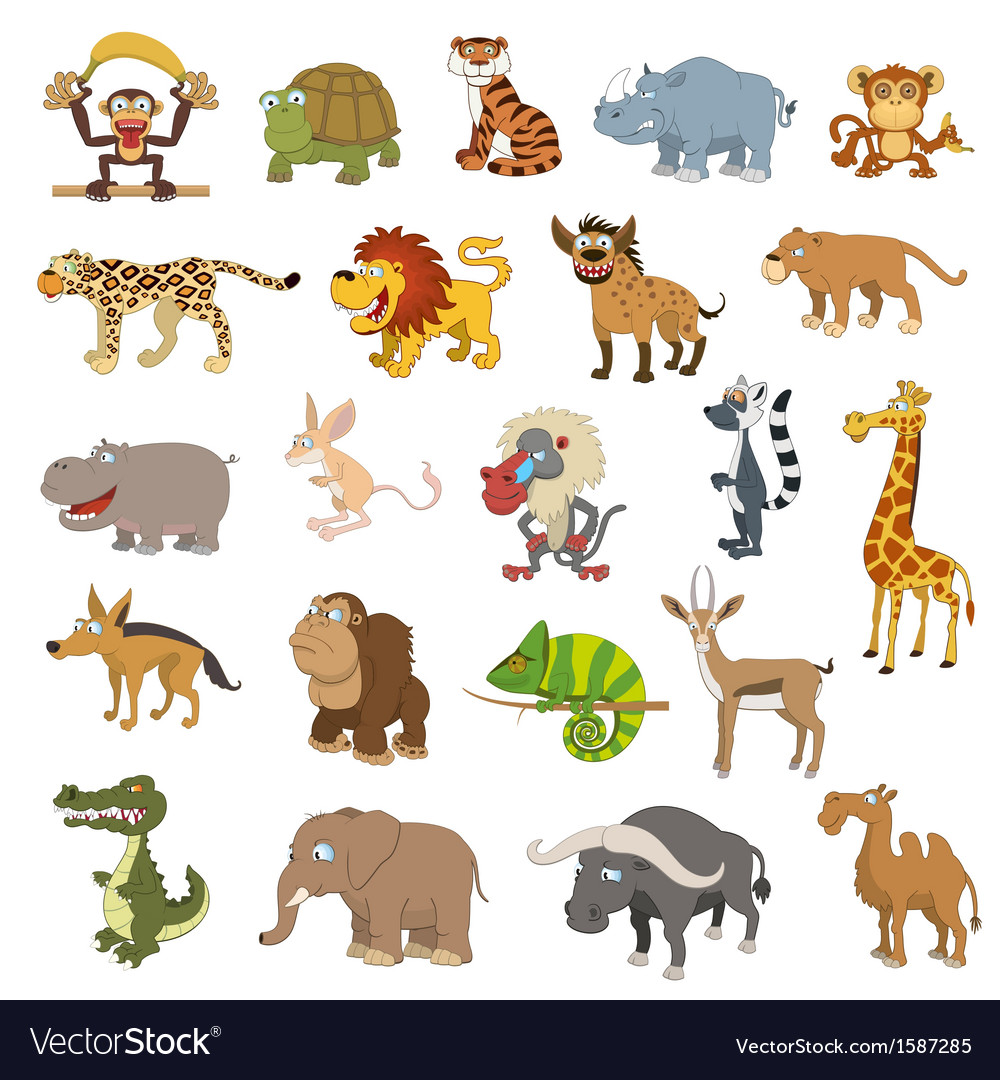 Africa animals set