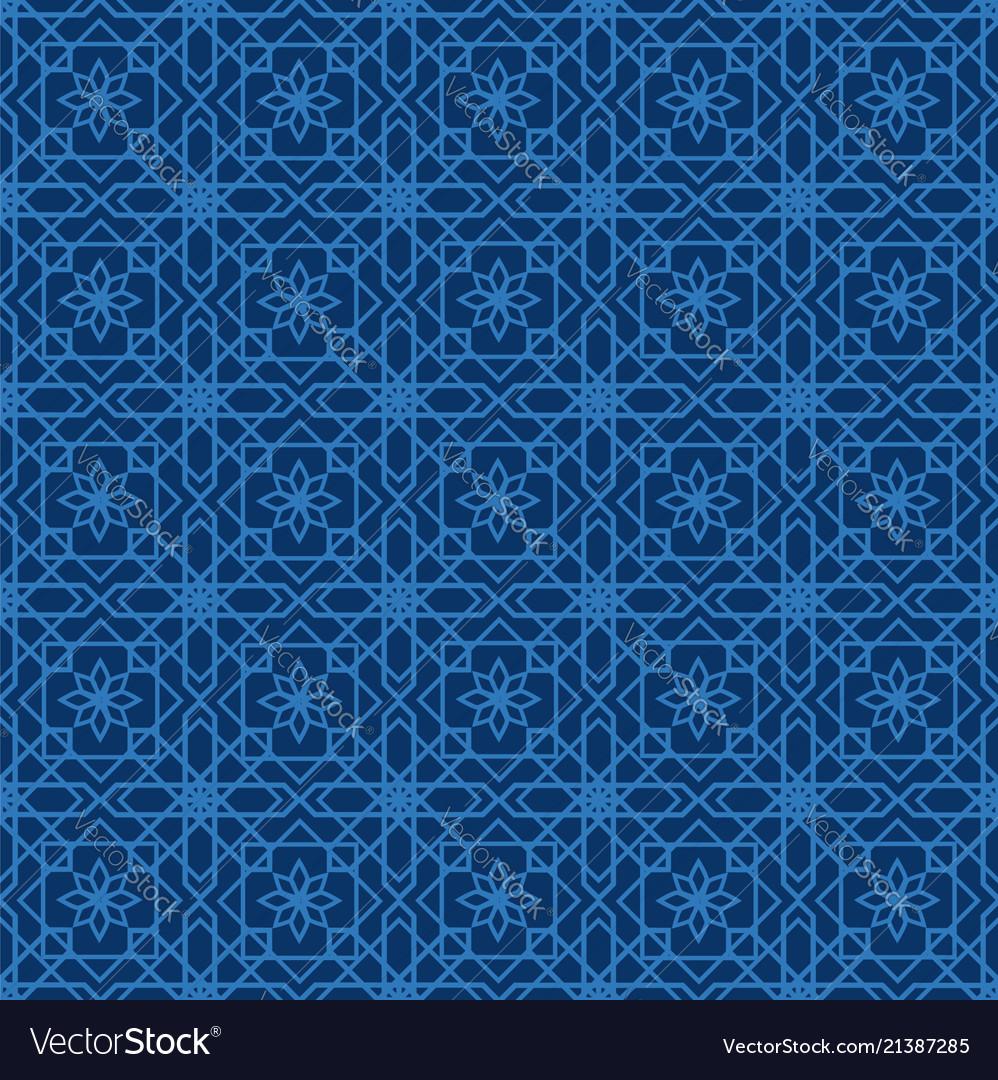 Arabic seamless pattern mosaic oriental