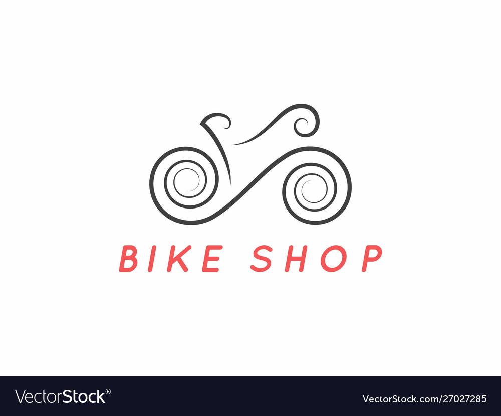 Bike logo design logotype bicycle design