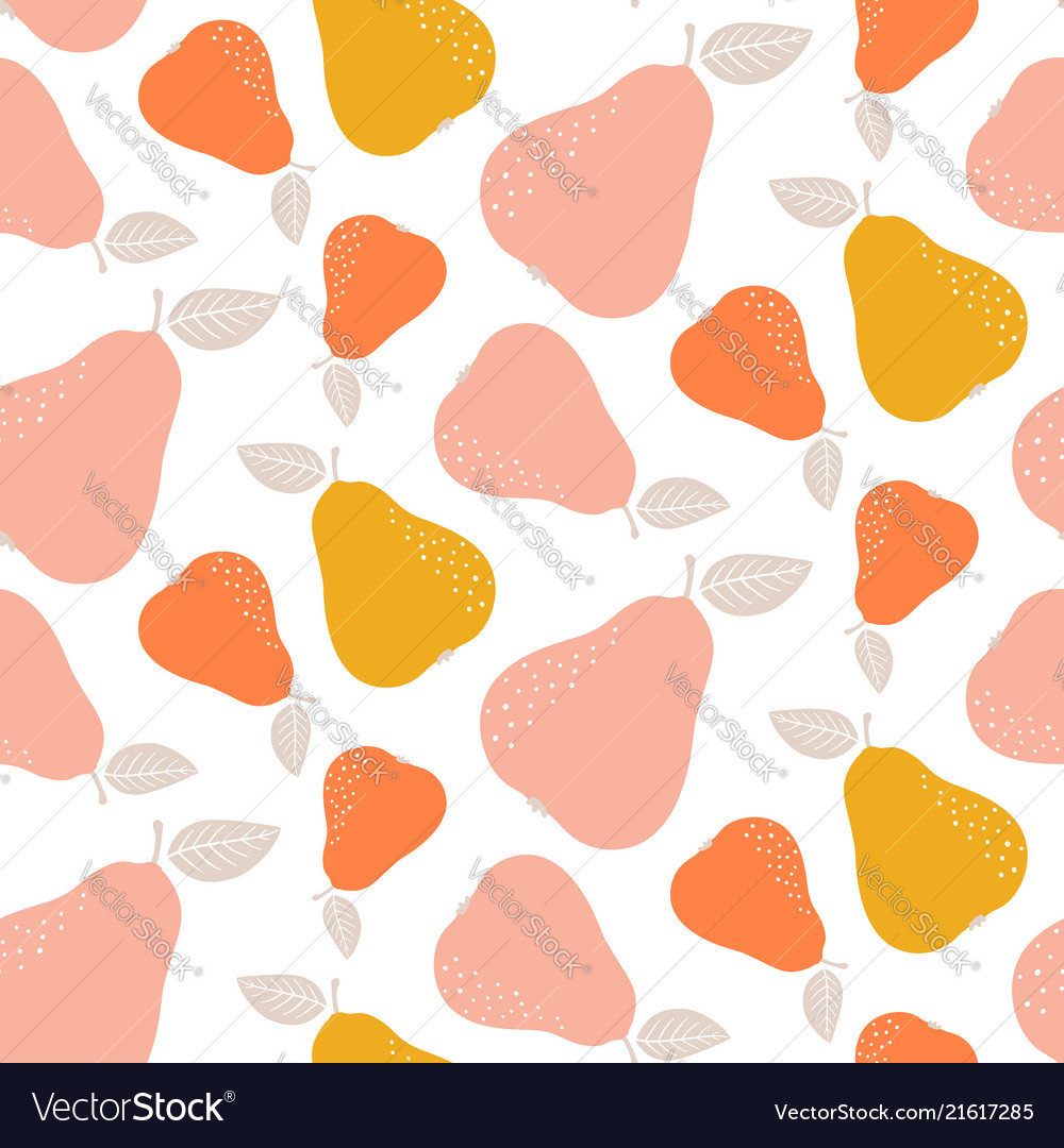 Colorful seamless pear pattern repetitive simple