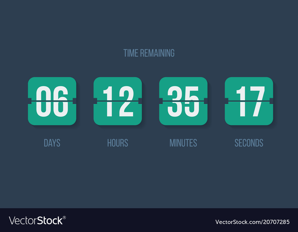 Countdown clock flip counter digital timer