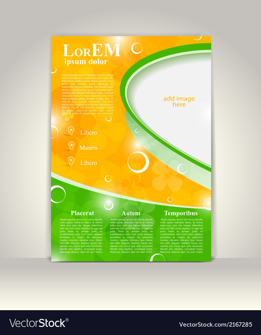 Flyer brochure or magazine cover template