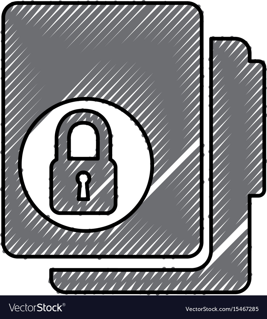 Folder file with padlock isolated icon vector image