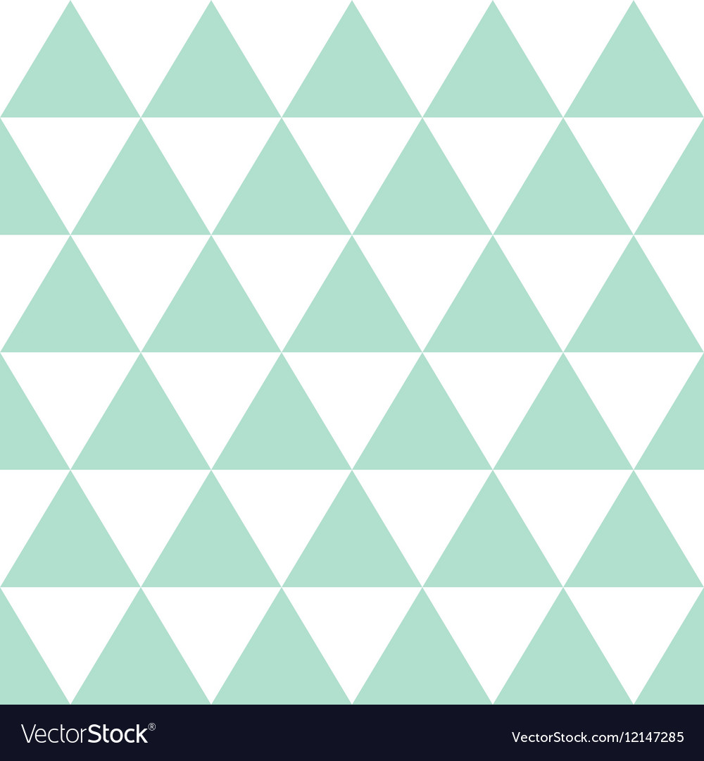 Green White Triangle Background vector image