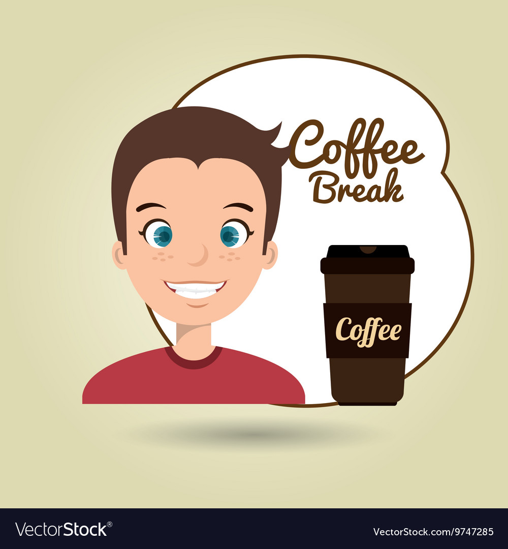 People and coffee icon design