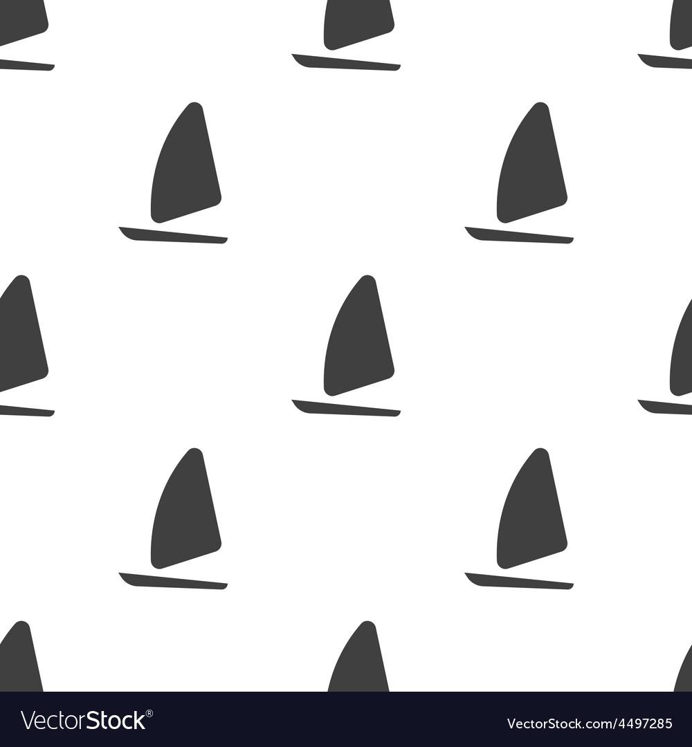 Sail boat seamless pattern