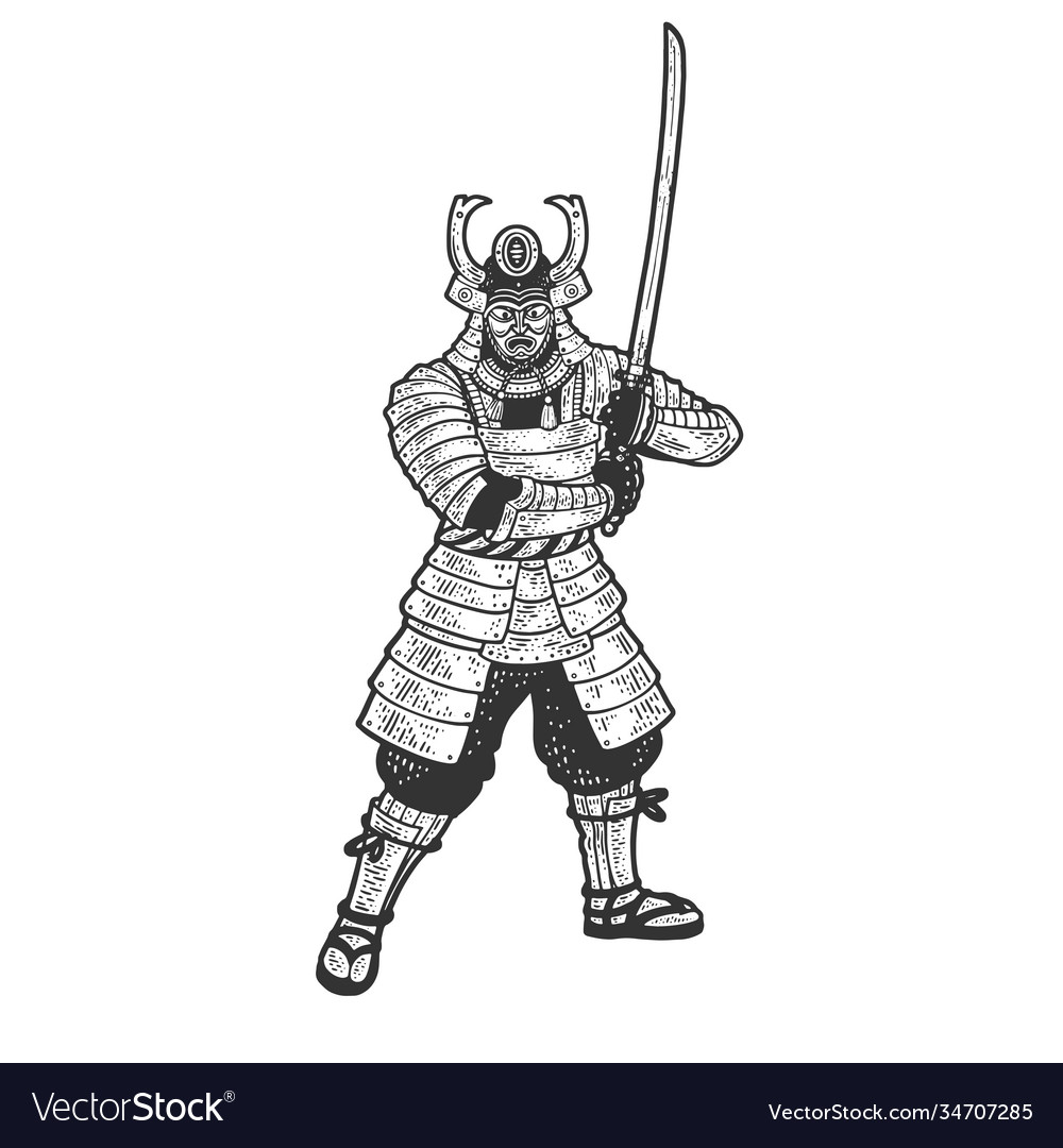 Samurai warrior sketch