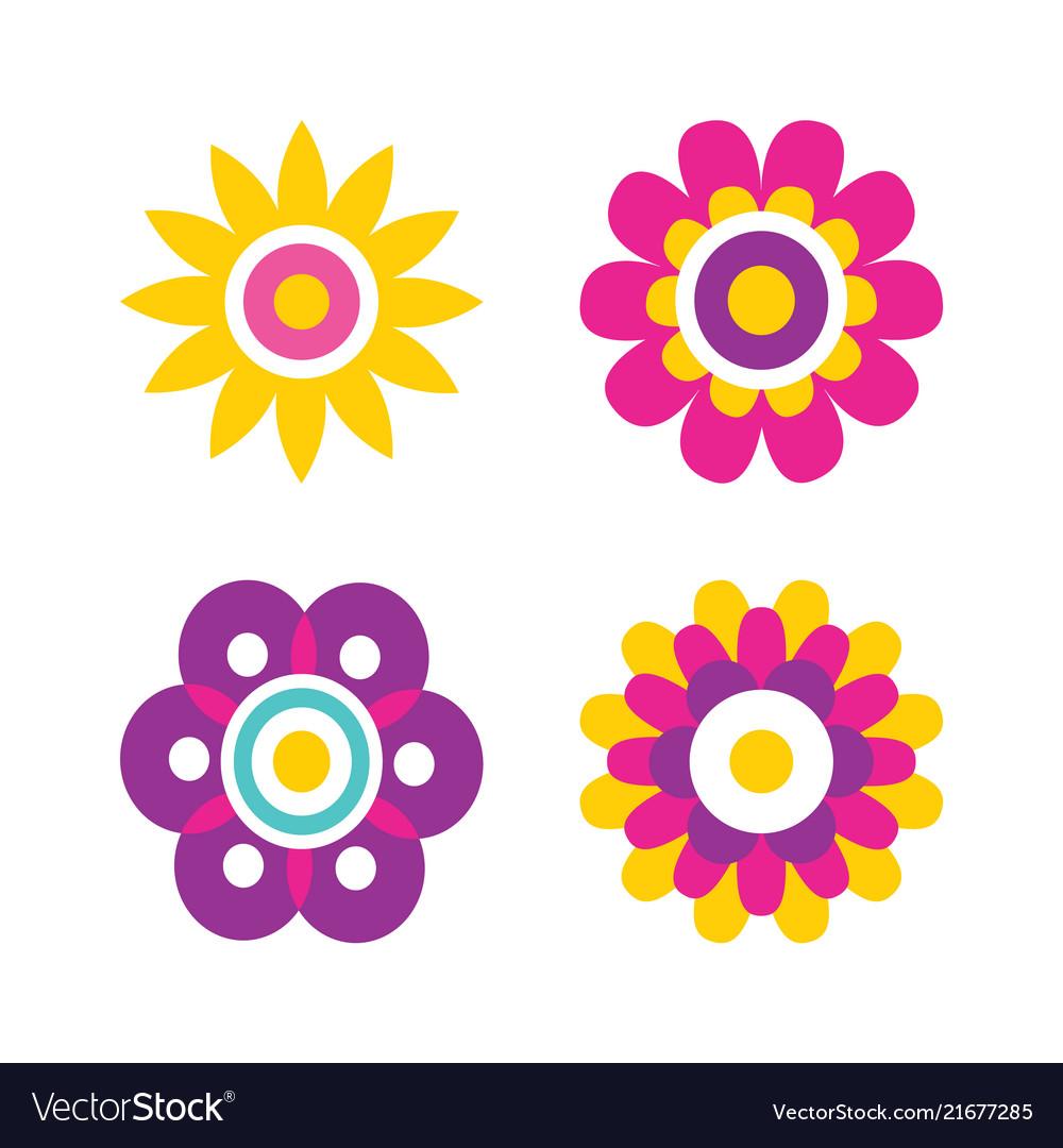 Springtime flowers cartoon
