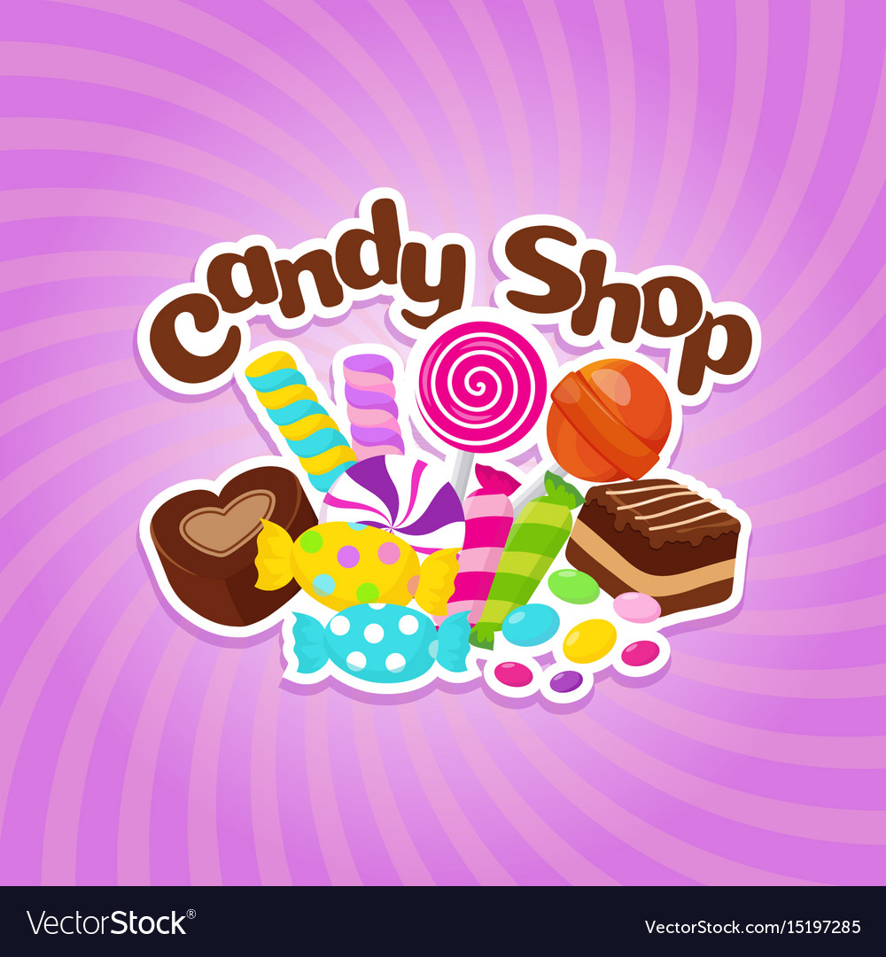 Sugar sweets background with colorful