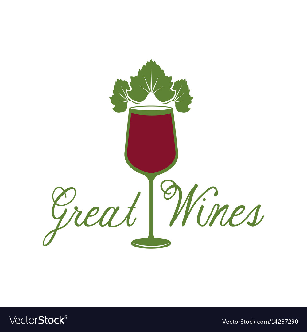 Great wines glassware leaves image poster