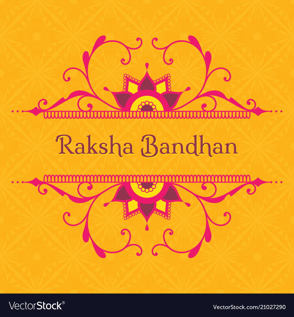 Greeting card for indian holiday raksha bandhan vector image m4hsunfo