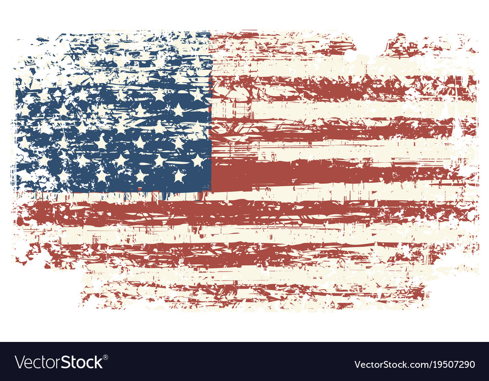 grunge usa flag vintage american flag royalty free vector rh vectorstock com usa flag vector art free usa flag vector art
