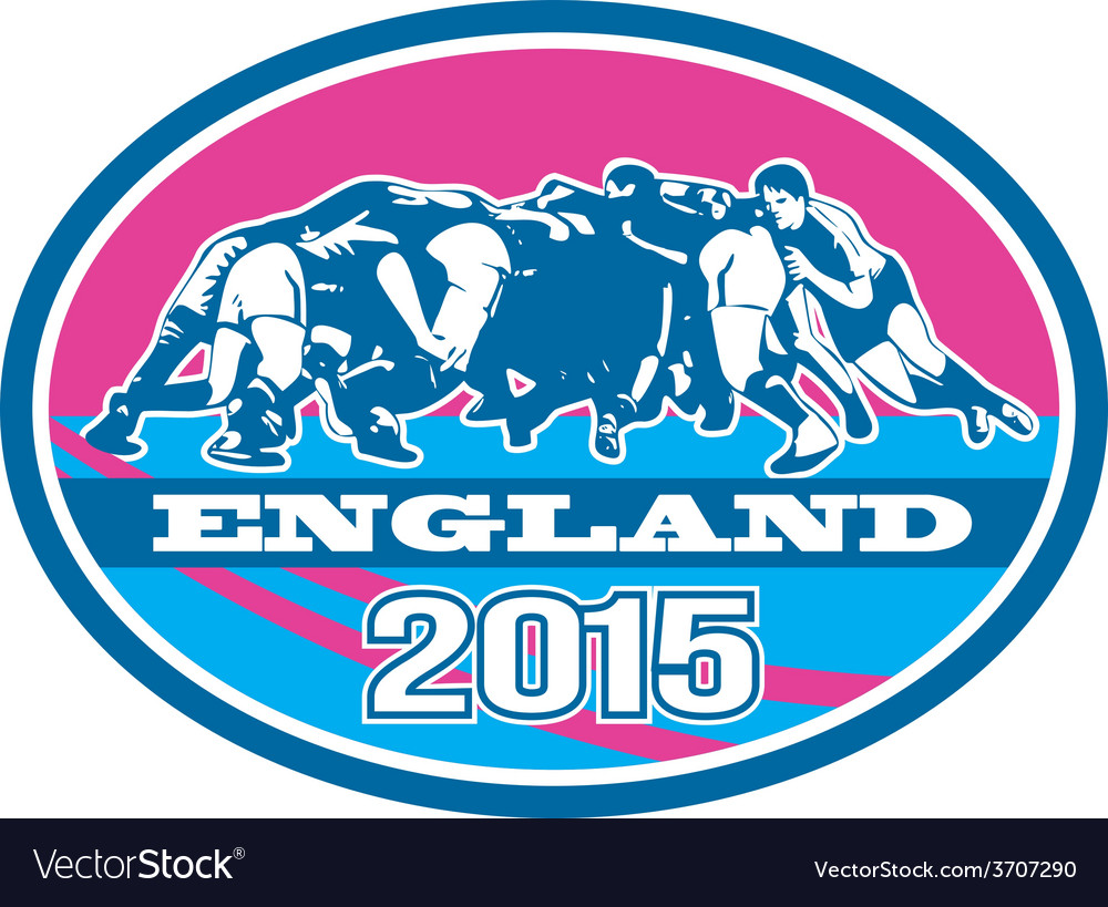 Rugby Scrum England 2015 Oval
