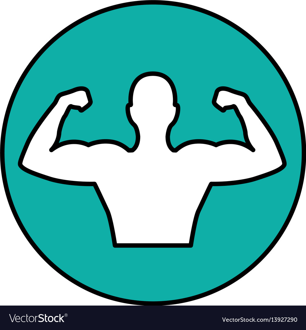 Strong man figure icon