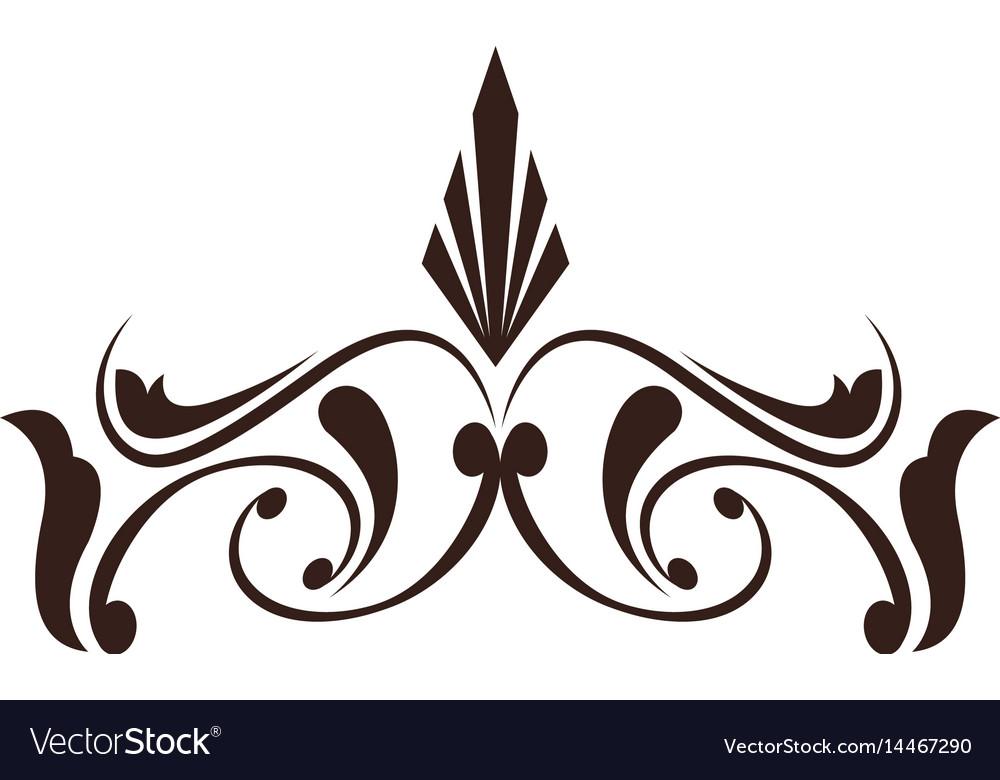 Vintage decoration element ornate image