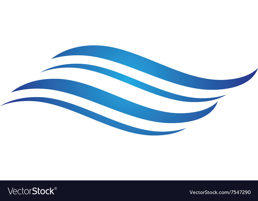 water wave logo template royalty free vector image