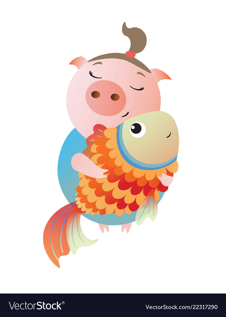 Zodiac pig pisces chinese horoscope symbol 2019