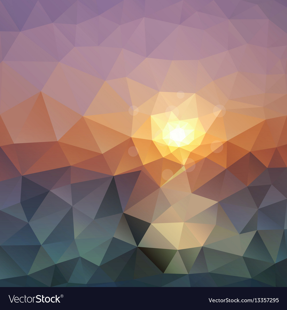 Abstract triangular background bright polygon