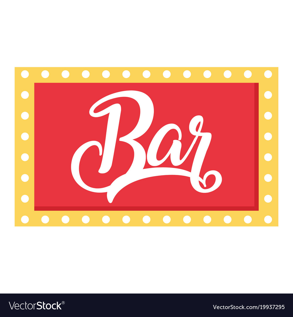 Bar sign icon flat style