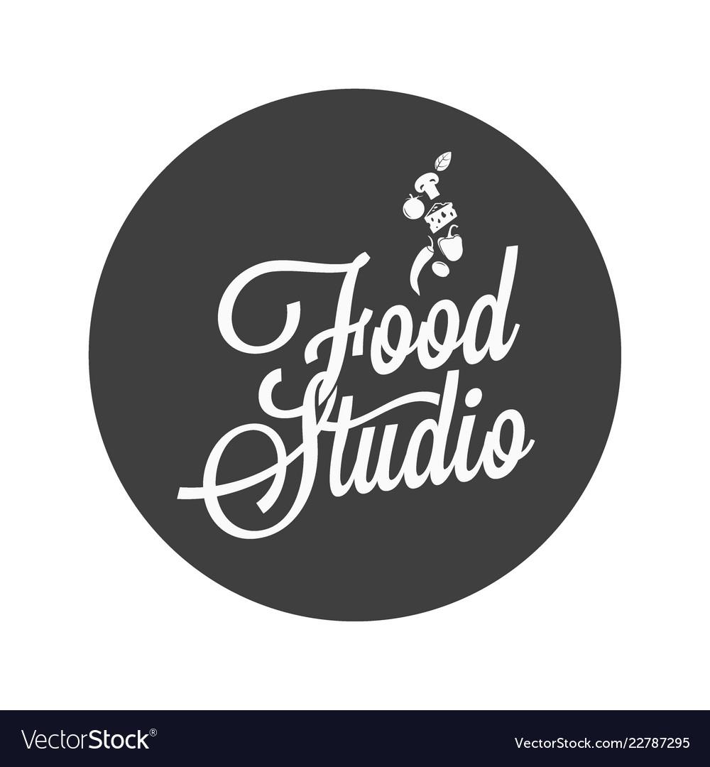 Food studio vintage avatar on white background