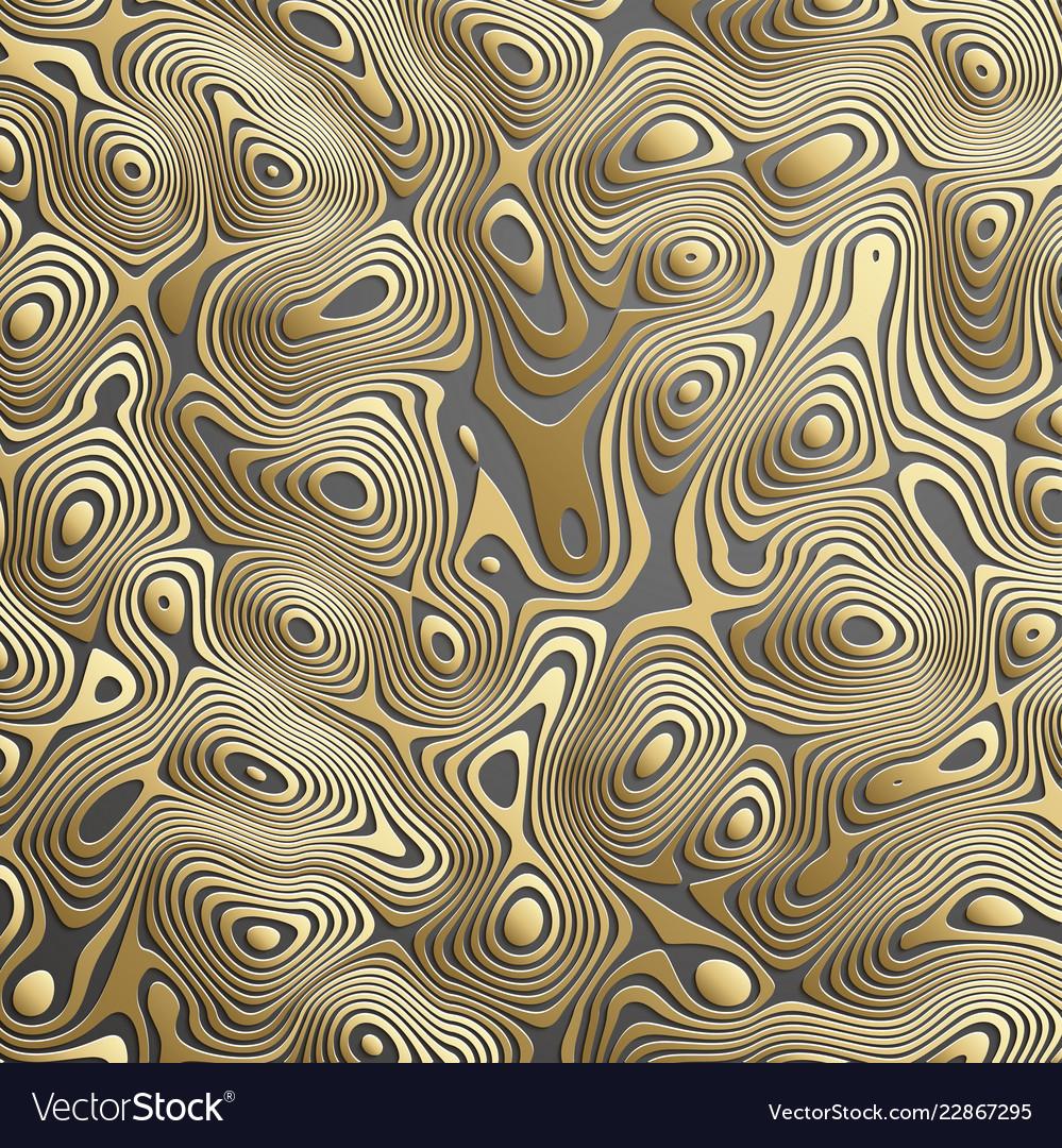 Luxury gold background wavy gold landscape