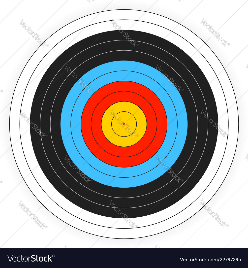 image relating to Printable Bullseye Target titled Printable archery emphasis historical past