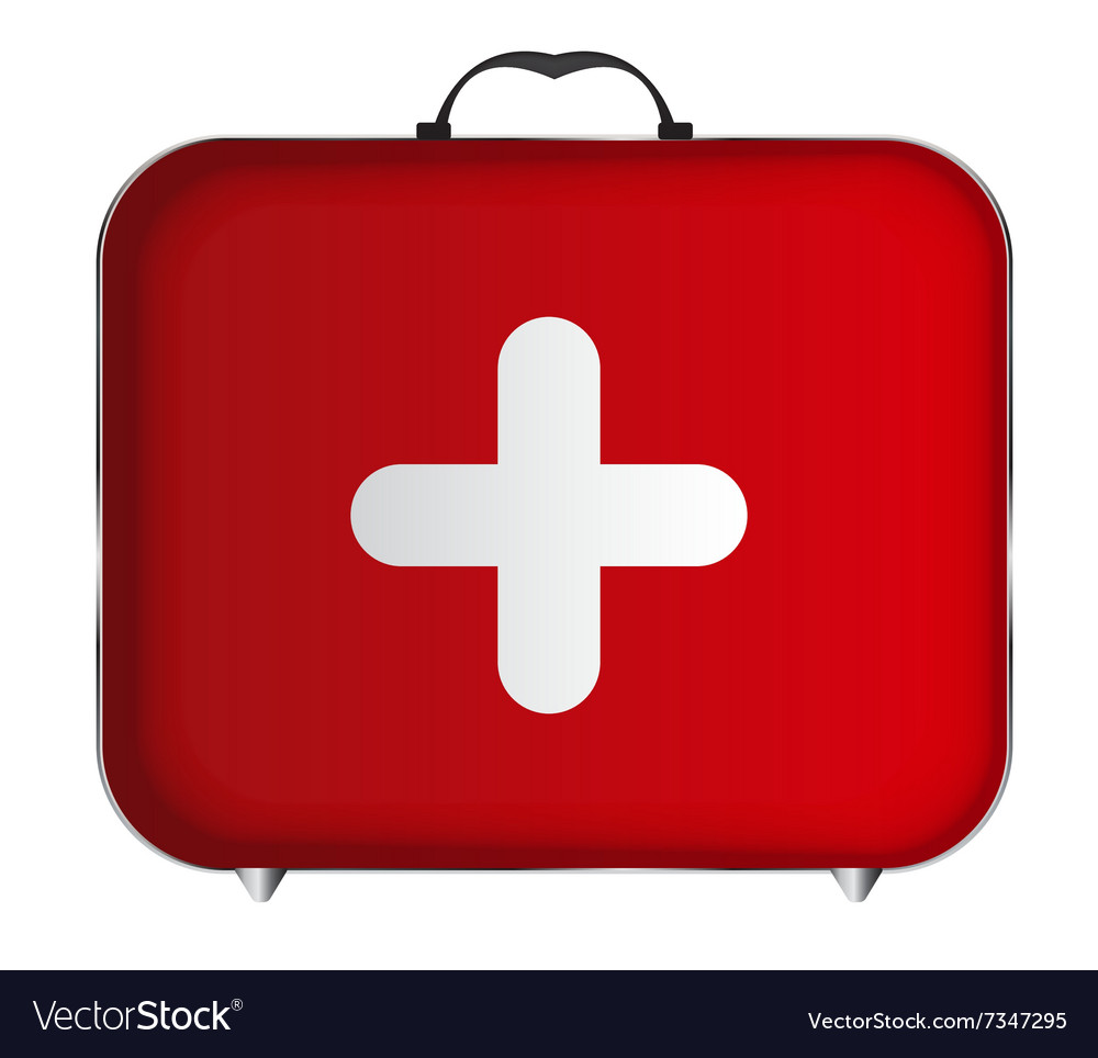 Red Medical Bag With A Cross Royalty Free Vector Image