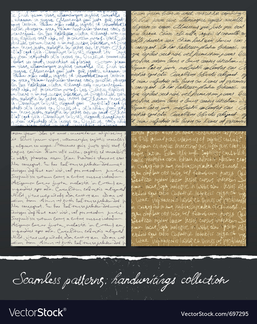 Seamless pattern handwritings collection abstract vector image