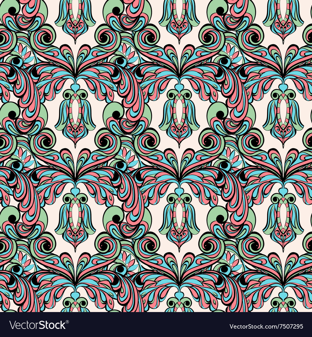 Seamless pattern Owl doodle cartoon