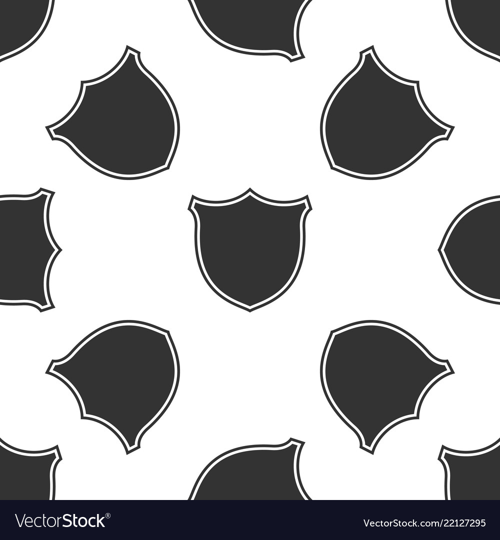 Shield isolated icon seamless pattern