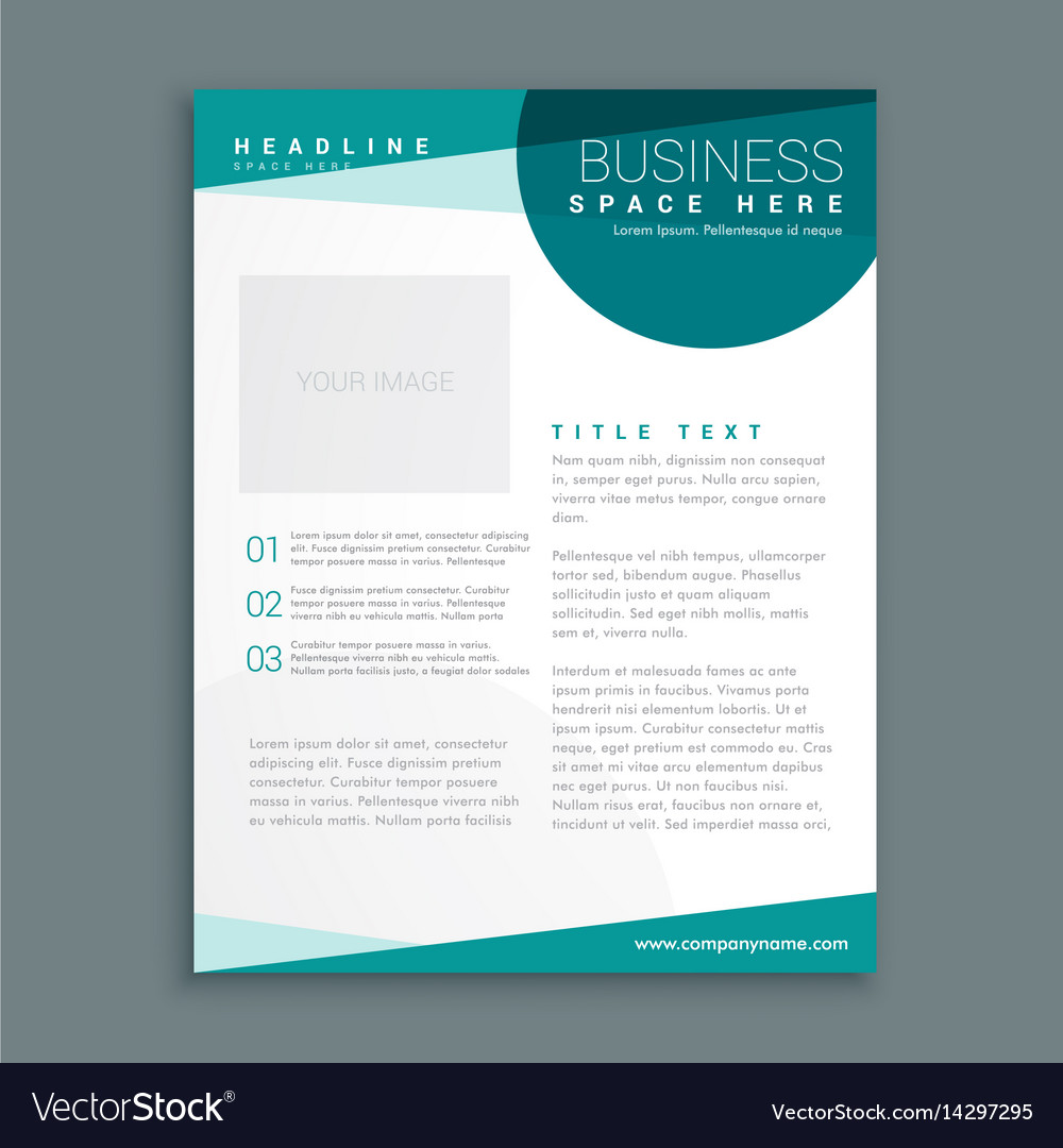 Simple blue brochure design template in size a4