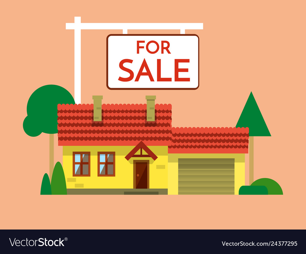 The house is sold the house and sign in the