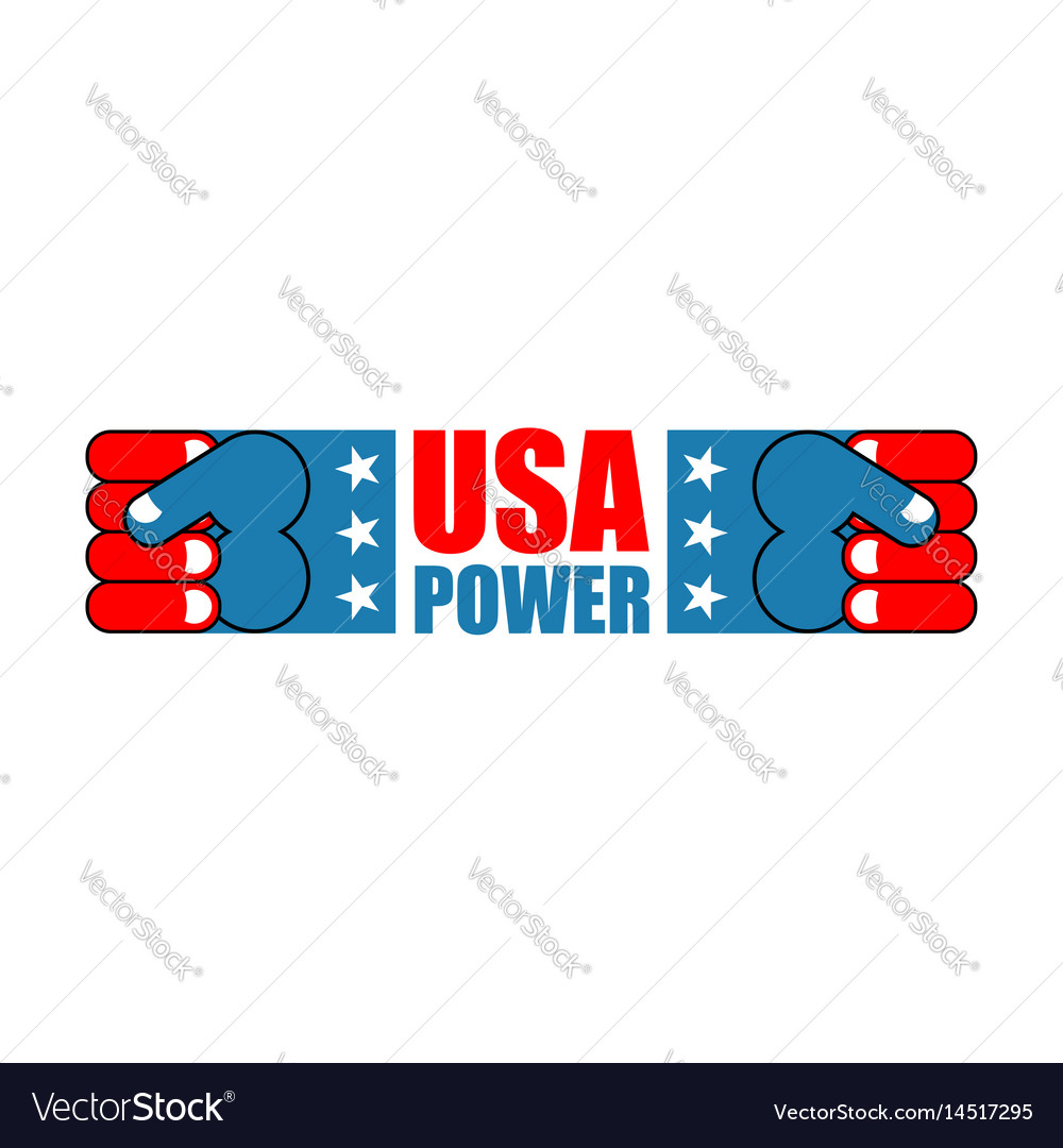Usa patriot fist emblem sign of strong america