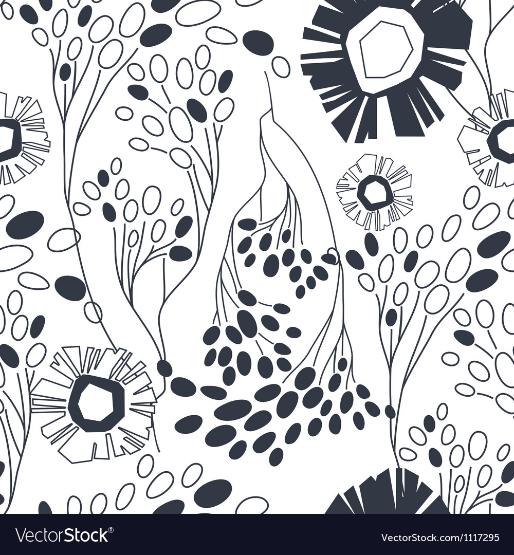 Vintage floral seamless pattern with hand drawn