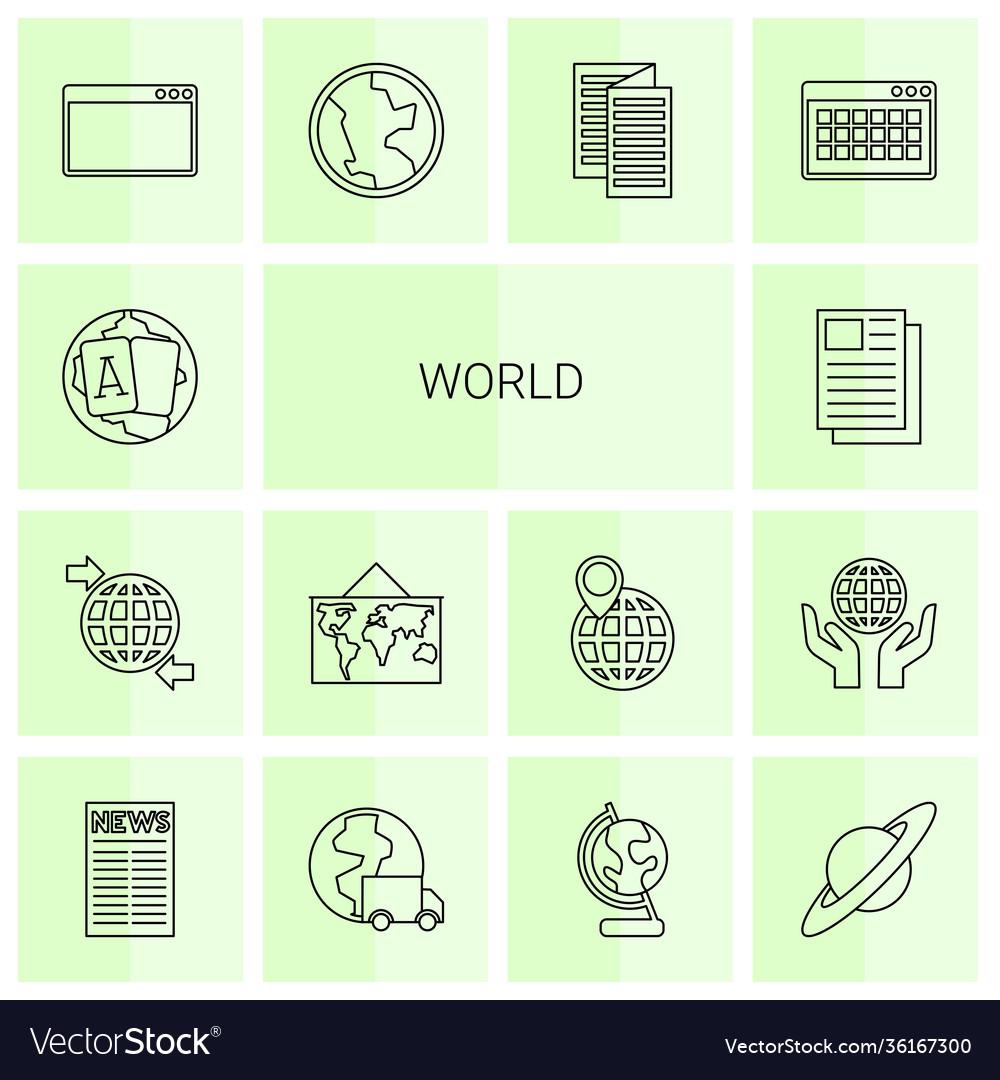 14 world icons