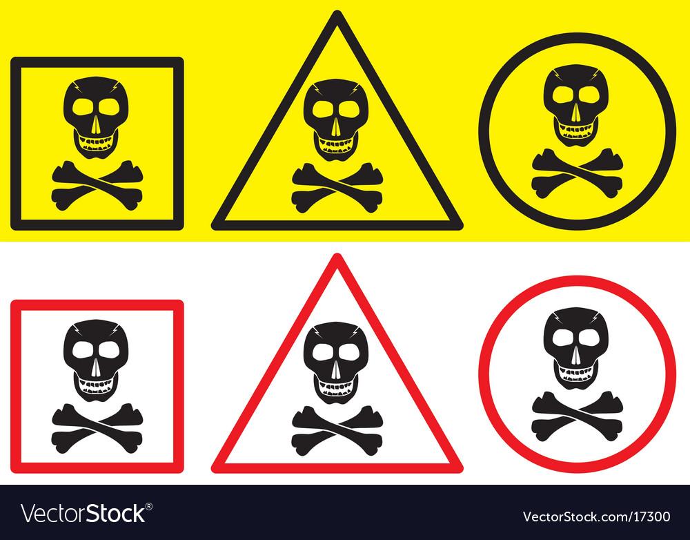 Danger label with skull symbol