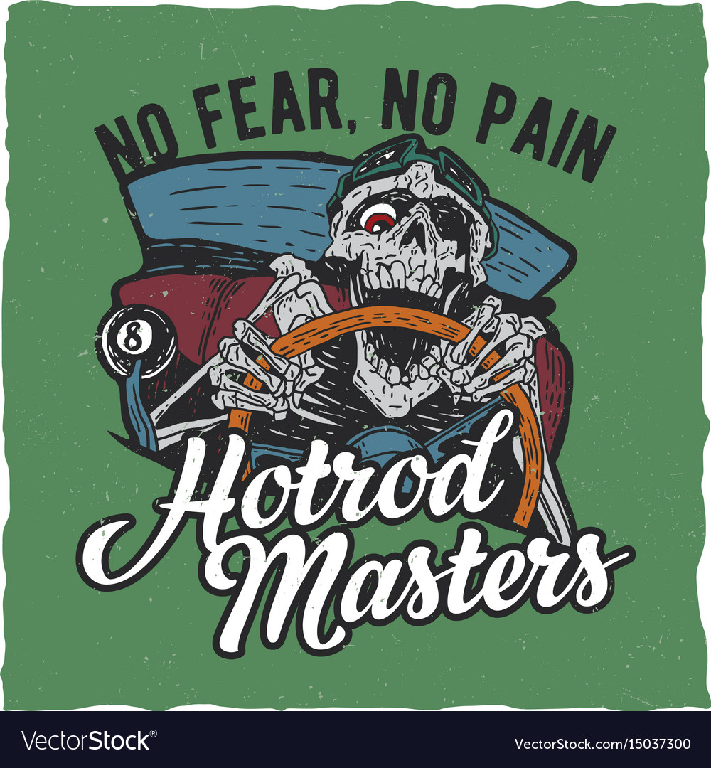 Hotrod masters t-shirt label design