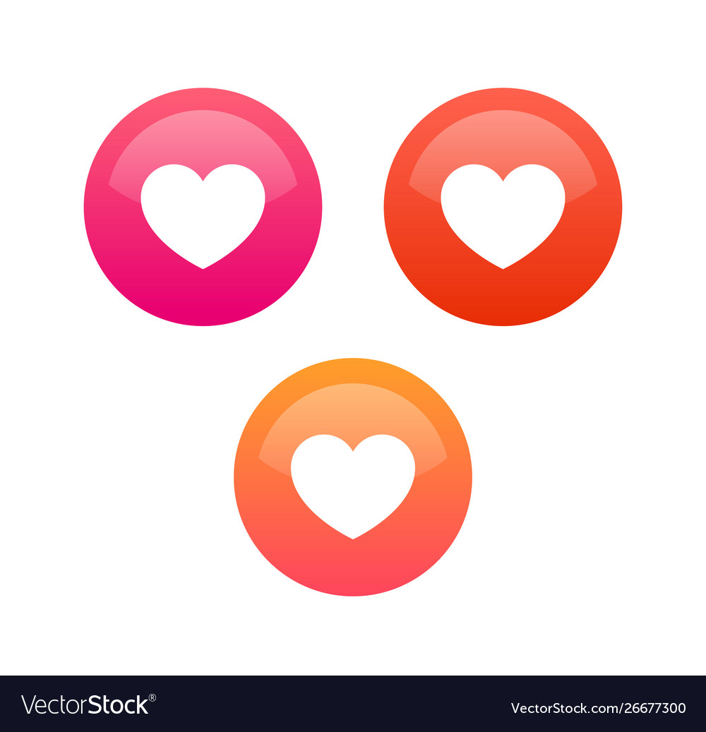 Like heart icons for chat social network and