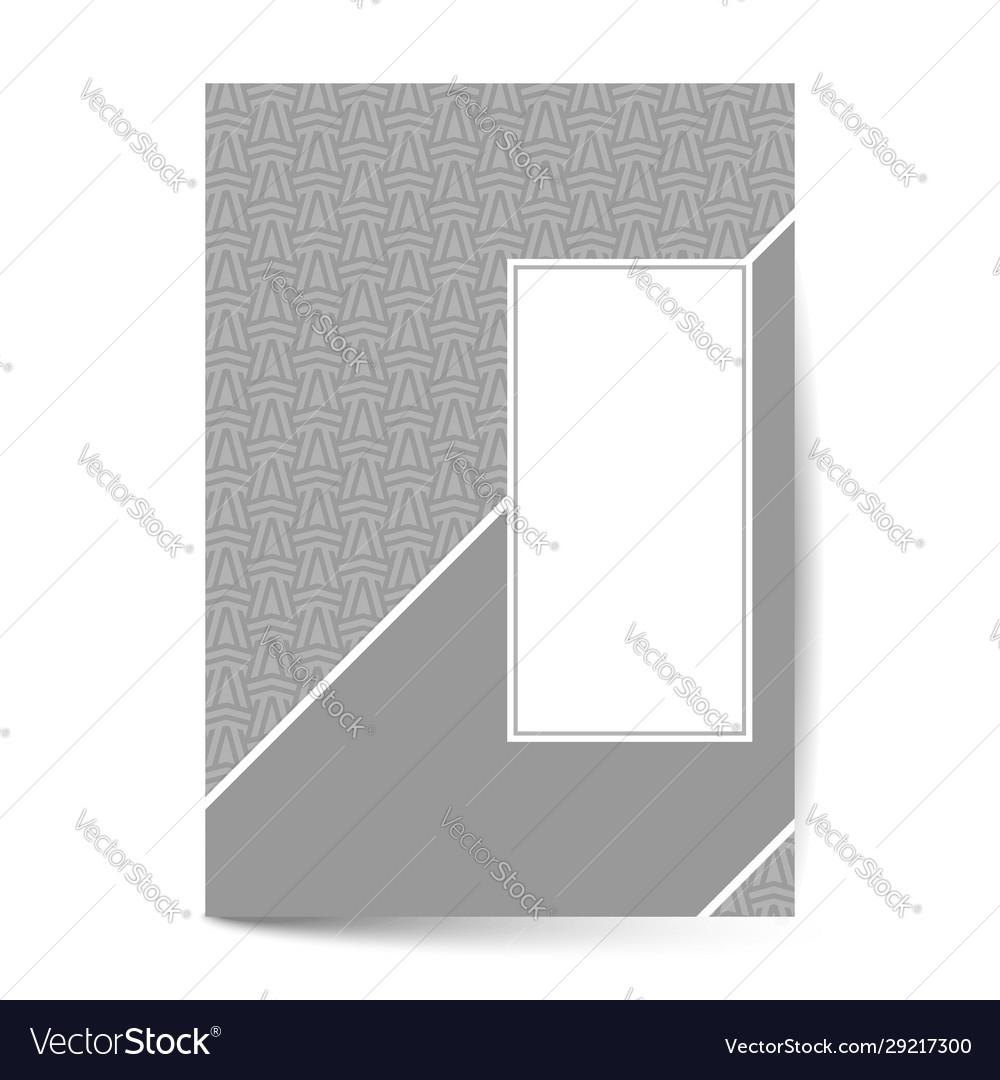 Luxury cover page with pattern design for flyer