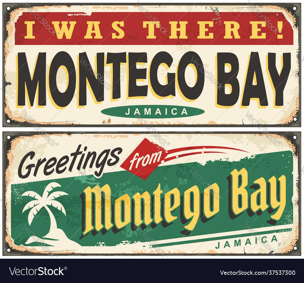 Montego bay retro tin signs