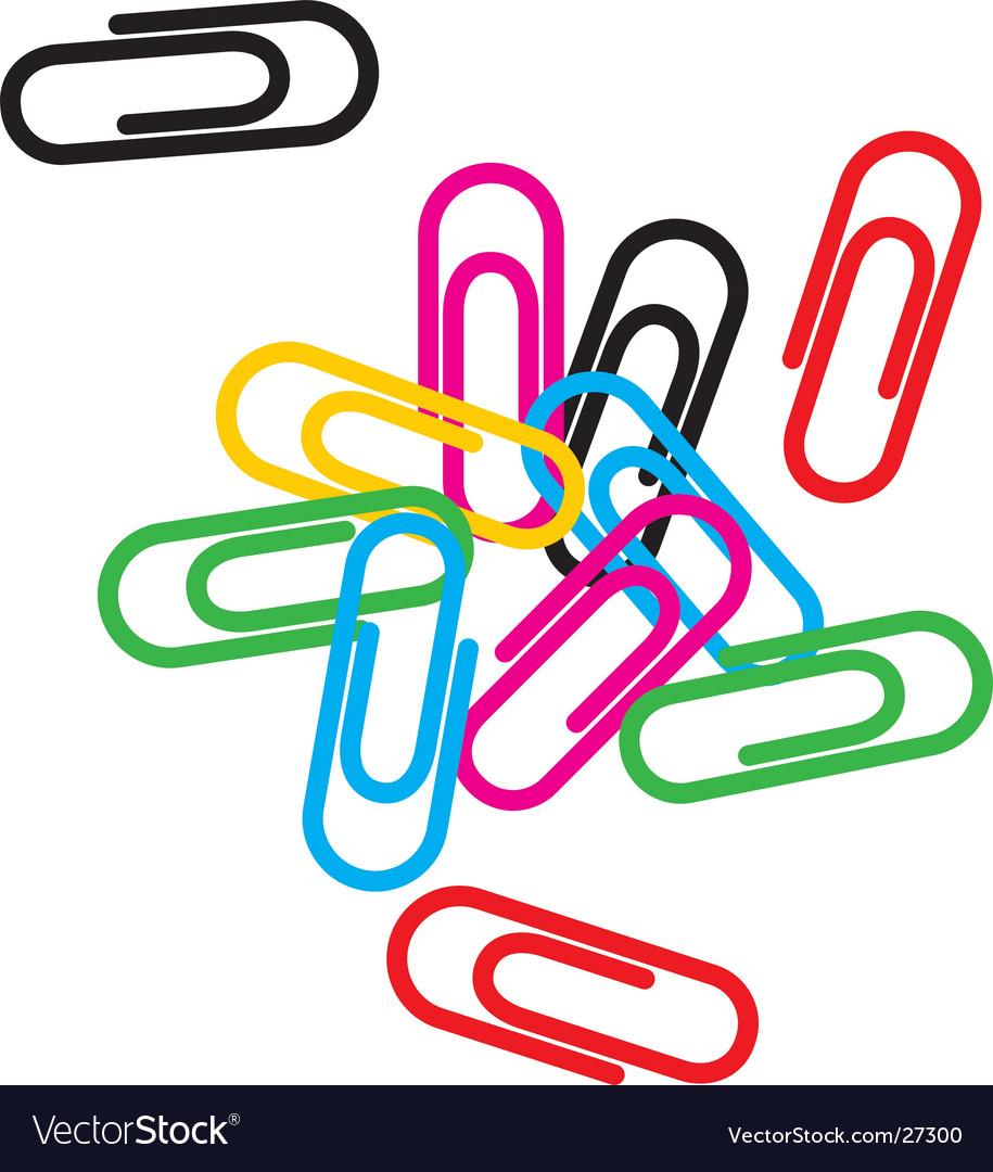 paper clip royalty free vector image vectorstock rh vectorstock com paper clip vector free paper clip vector