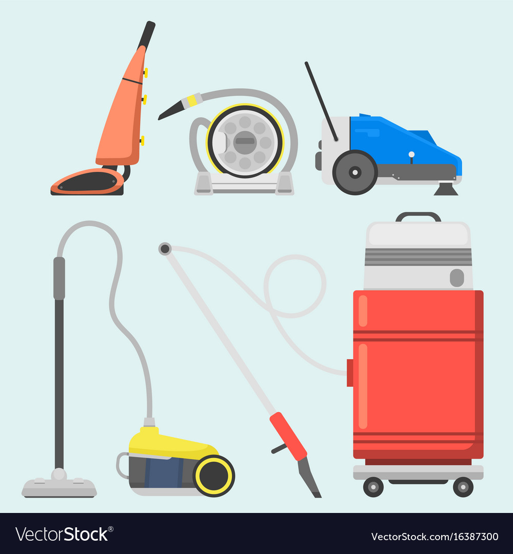 Professional cleaning equipment isolated