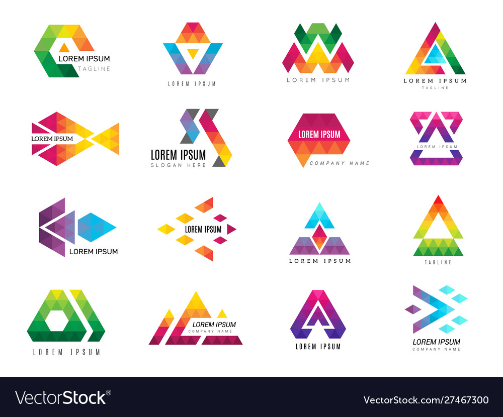 Triangle logo business advertizing template