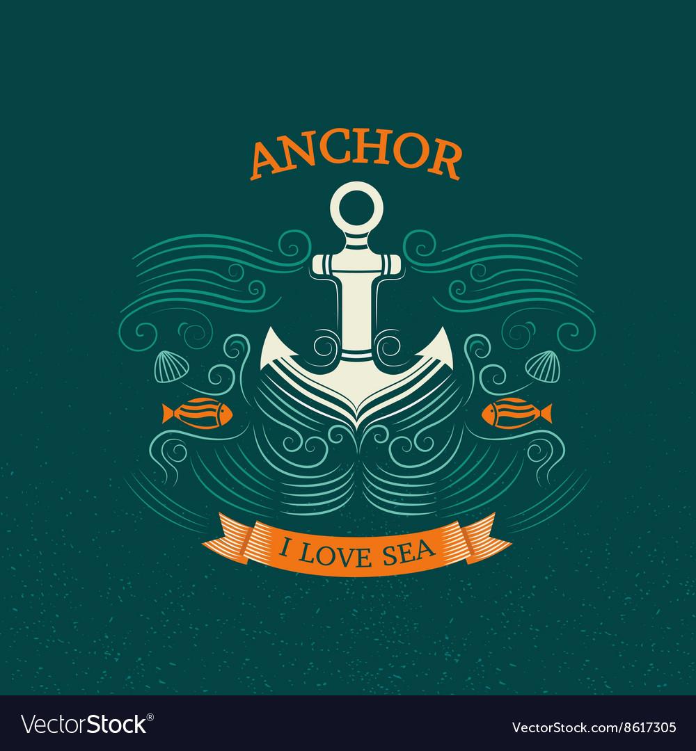 Anchor retro style