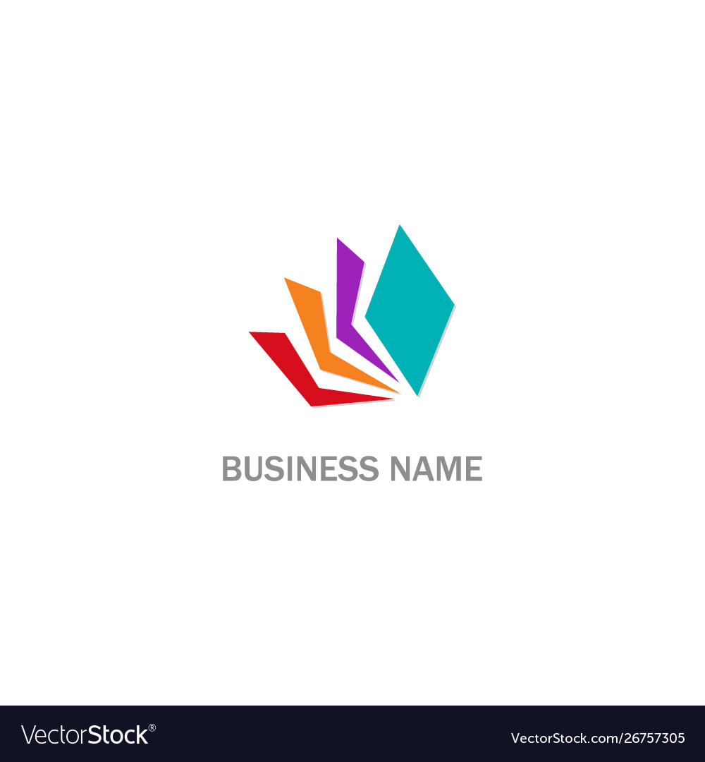 Colorful paper document logo