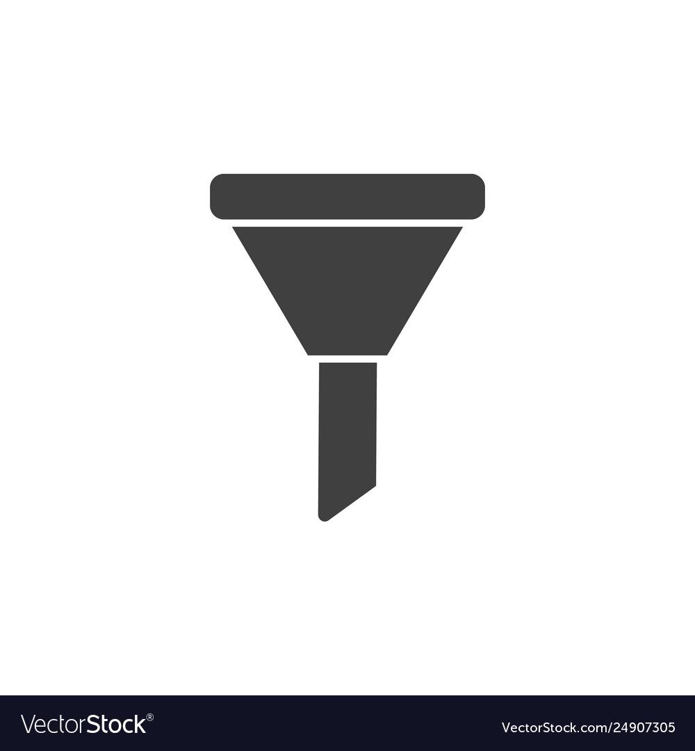 Database server funnel icon element of