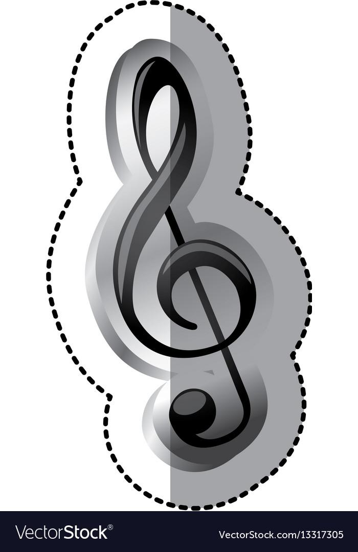 Emblem Music Symbol Icon Royalty Free Vector Image