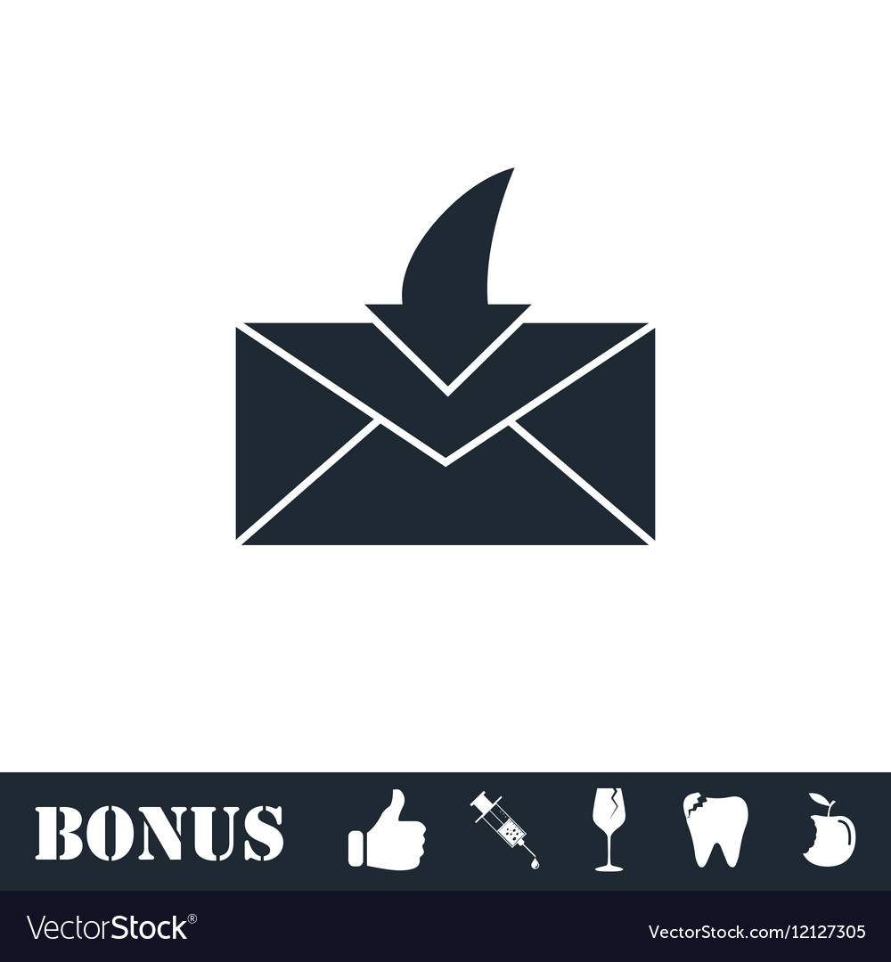 Envelope icon flat